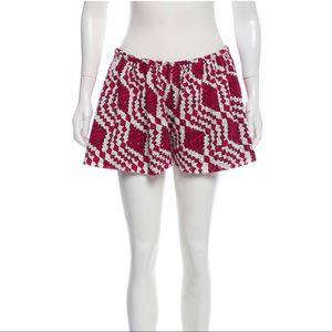 Thakoon Boho Shorts in Red Tribal Print